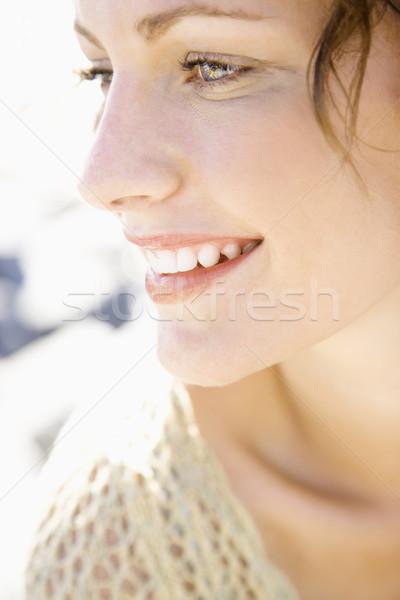 Uśmiechnięta twarz portret uśmiechnięty Zdjęcia stock © iofoto
