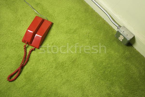 Telephone on floor. Stock photo © iofoto