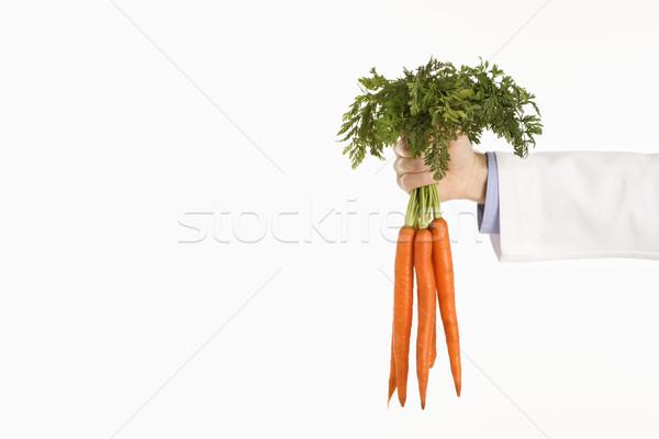 Arzt halten Karotten Erwachsenen männlich Stock foto © iofoto