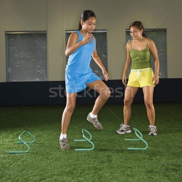 Girl exercising. Stock photo © iofoto