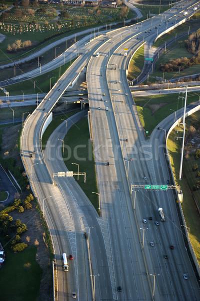 Chicago interstate luchtfoto verkeer Illinois oog Stockfoto © iofoto