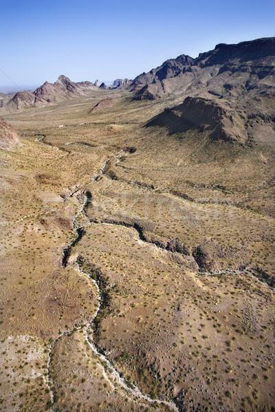 Zuidwest landschap luchtfoto bergen oog woestijn Stockfoto © iofoto