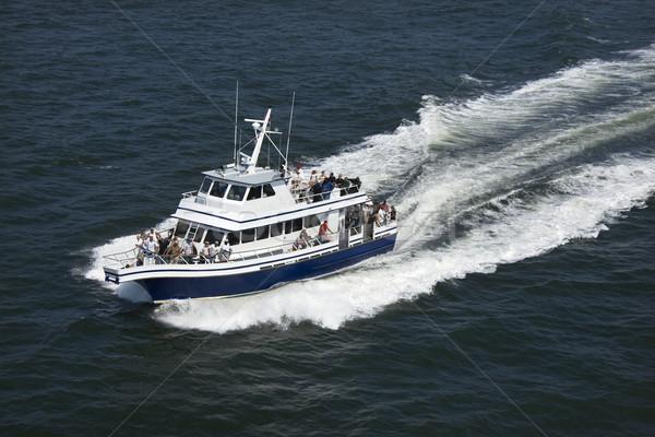 Pont boot vervoer kaal hoofd eiland Stockfoto © iofoto