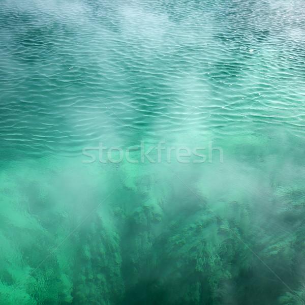 Thermisch bad zwembad turkoois water natuur stoom Stockfoto © iofoto