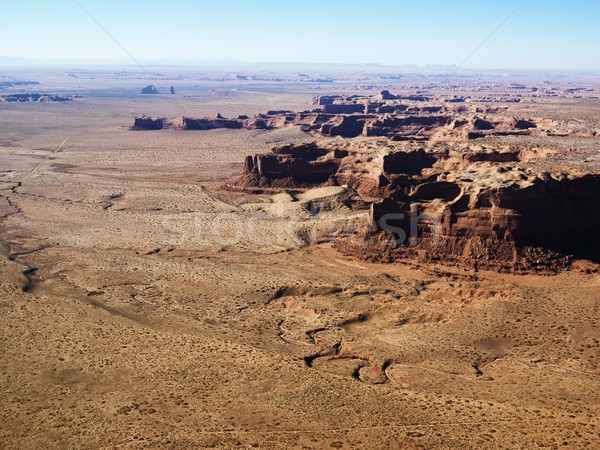 Arizona Canyon Antenne Luftbild Wüste Landschaft Stock foto © iofoto