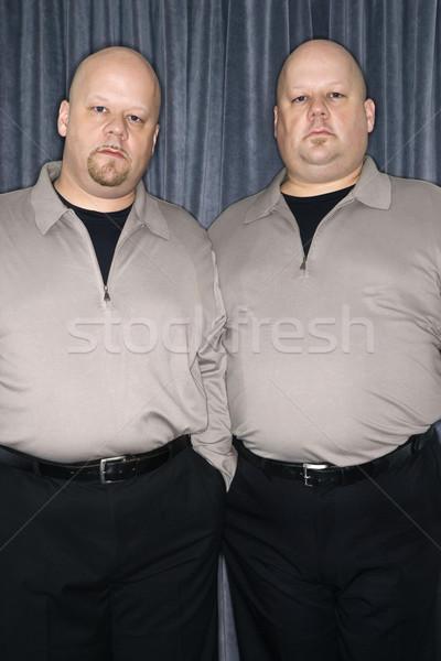 Aynı ikiz erkekler kafkas kel yetişkin Stok fotoğraf © iofoto