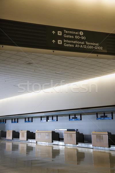 Airport interior. Stock photo © iofoto