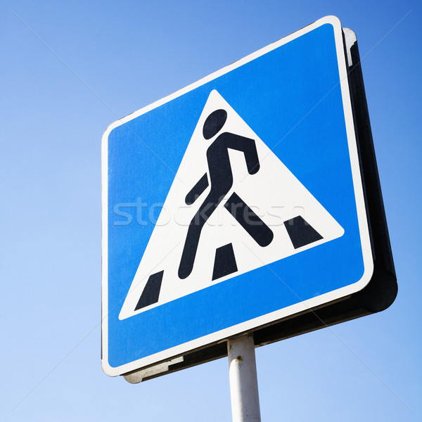 Pedestrian Crossing Sign in Moscow Stock photo © iofoto