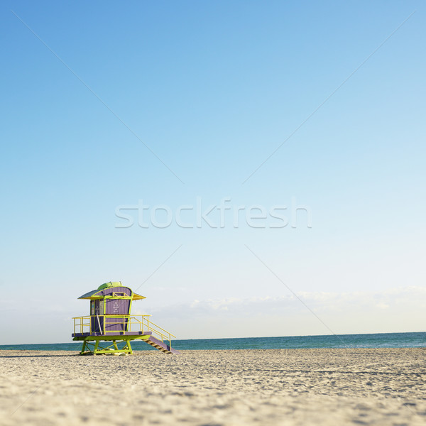 Lifeguard tower on beach. Stock photo © iofoto