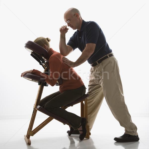 Homem mulher caucasiano masculino Foto stock © iofoto