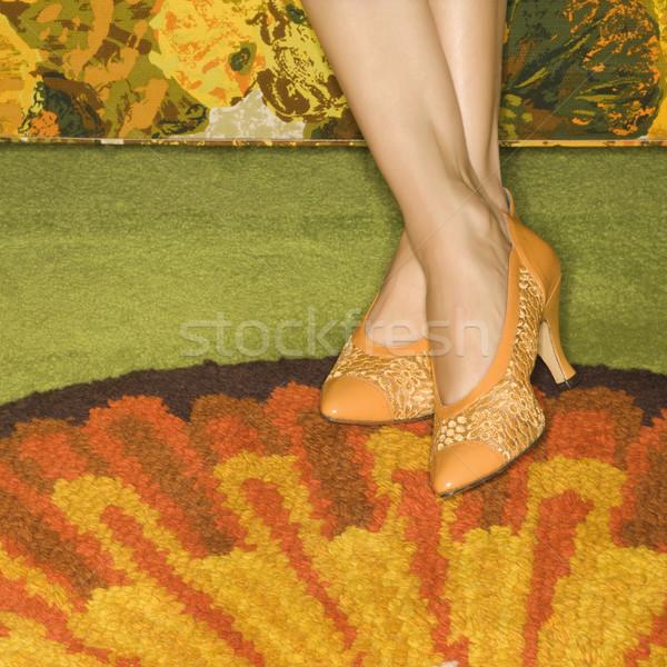 Feet in retro interior. Stock photo © iofoto