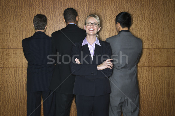 Businesswoman with Businessmen Stock photo © iofoto