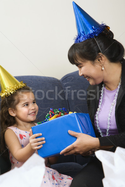 Family celebrating birthday. Stock photo © iofoto