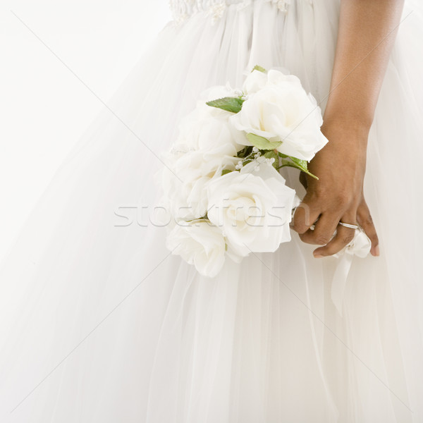 Bride holding bouquet. Stock photo © iofoto