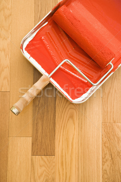 Paint roller and tray. Stock photo © iofoto