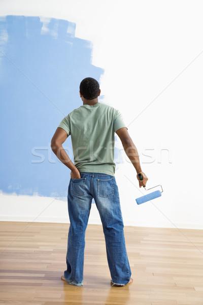 Man observing paint job. Stock photo © iofoto
