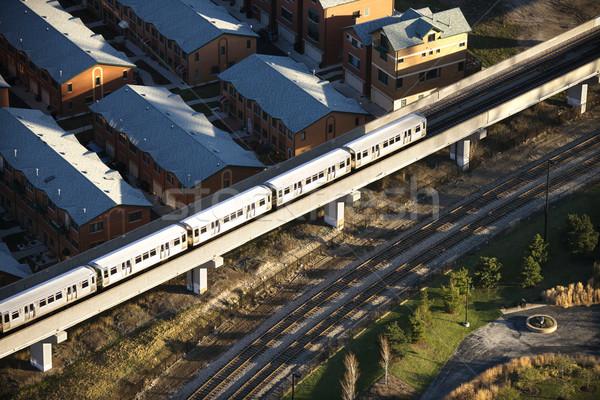 Forens trein luchtfoto Chicago Illinois oog Stockfoto © iofoto