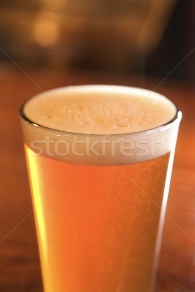Glass of Beer With Foam Stock photo © iofoto