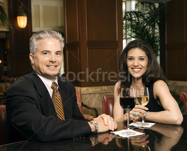 Couple vin adulte hispanique Homme Photo stock © iofoto