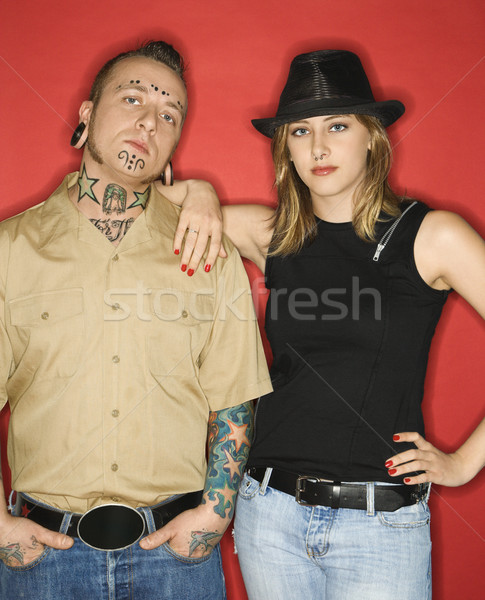 Adult male and teen female. Stock photo © iofoto
