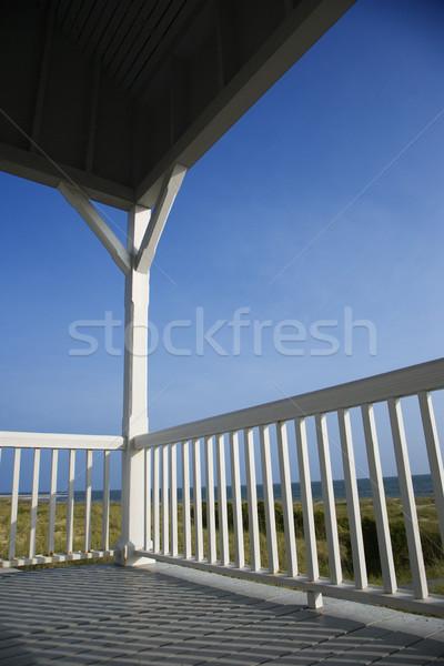 Veranda szemben tengerpart kopasz fej sziget Stock fotó © iofoto