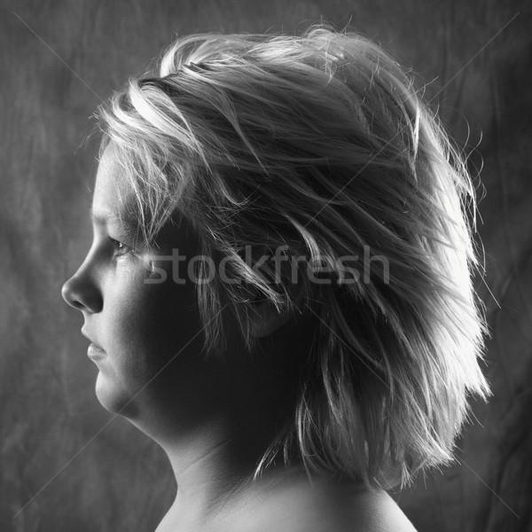 Teen boy profile portrait. Stock photo © iofoto