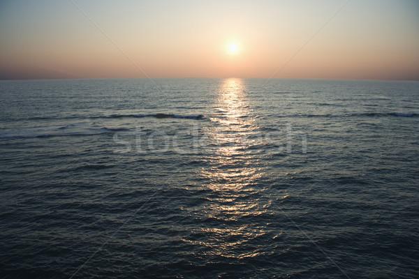 Océan scénique marin coucher du soleil île Photo stock © iofoto