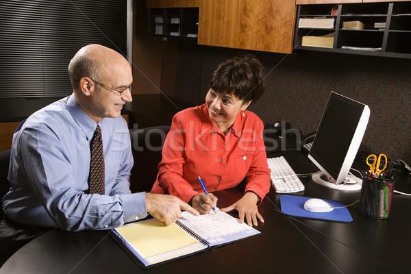 Businessman and businesswoman. Stock photo © iofoto