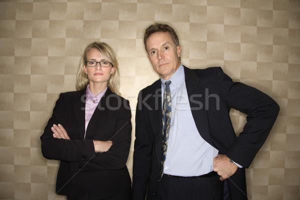 Businessman and Businesswoman Portrait Stock photo © iofoto