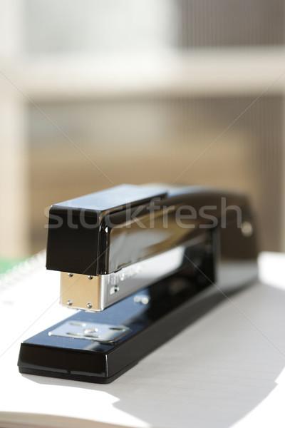 Fekete tűzőgép ablak üzlet szín bent Stock fotó © iofoto