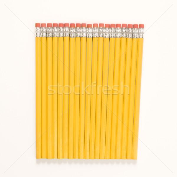 Row of new pencils. Stock photo © iofoto