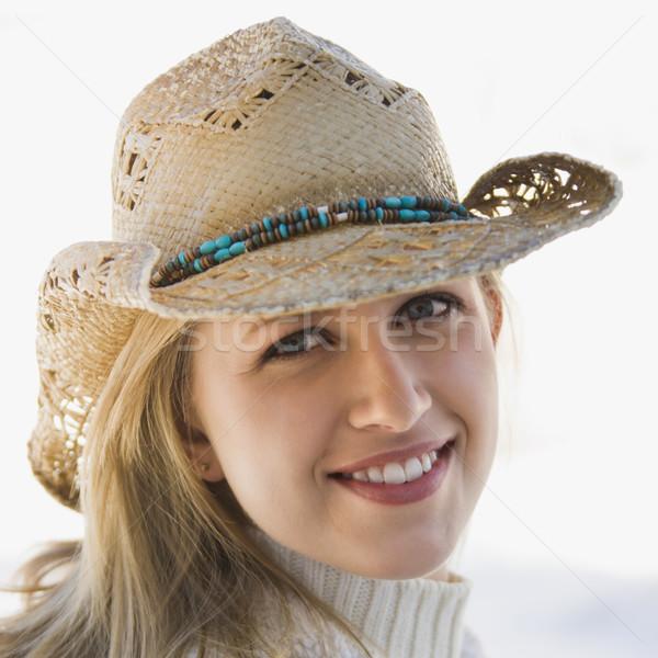Girl with cowboy hat. Stock photo © iofoto