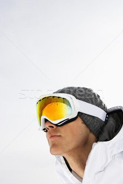 Retrato masculino esquiador cabeça tiro Foto stock © iofoto