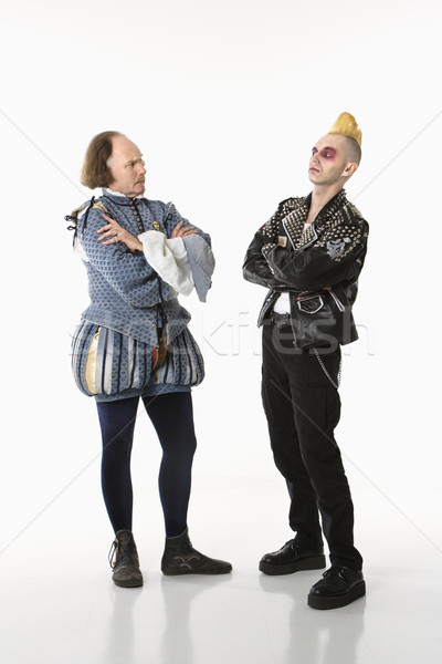 Shakespeare and punk man. Stock photo © iofoto