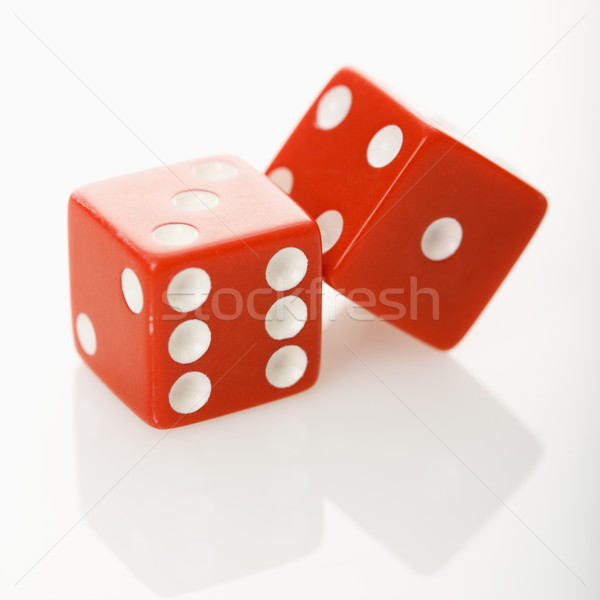 Red dice.  Stock photo © iofoto