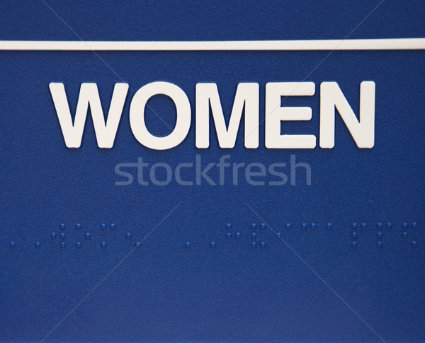 Women sign with braille. Stock photo © iofoto