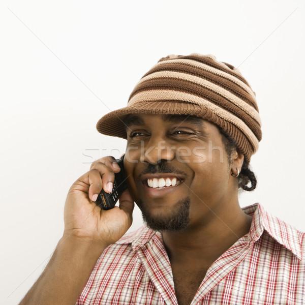 Man talking on phone. Stock photo © iofoto