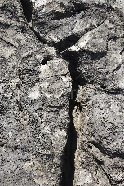 Lava rock crack primer plano color medio ambiente Foto stock © iofoto