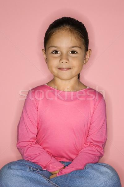 Cute Latina girl smiling. Stock photo © iofoto