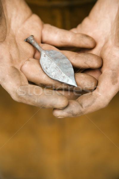 металл лист грязные кавказский мужчины Сток-фото © iofoto