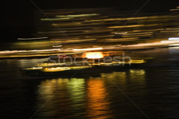 Borroso luces Sydney Australia noche puerto Foto stock © iofoto