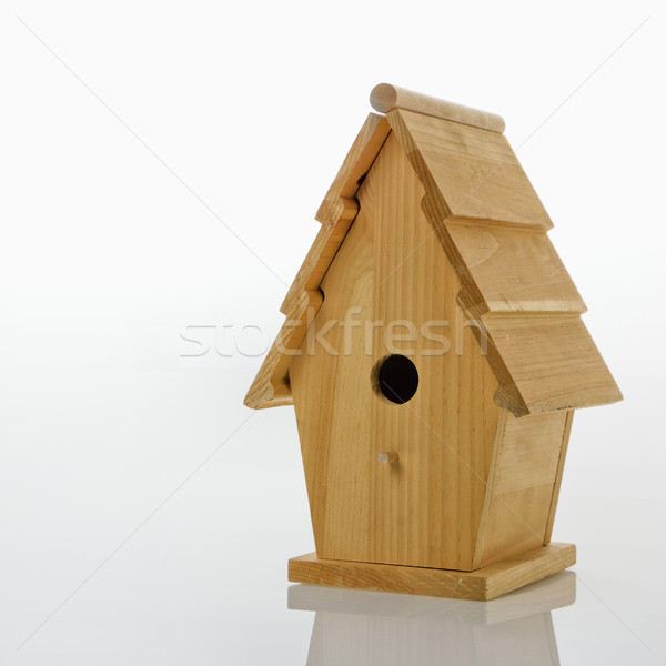 Wooden birdhouse. Stock photo © iofoto