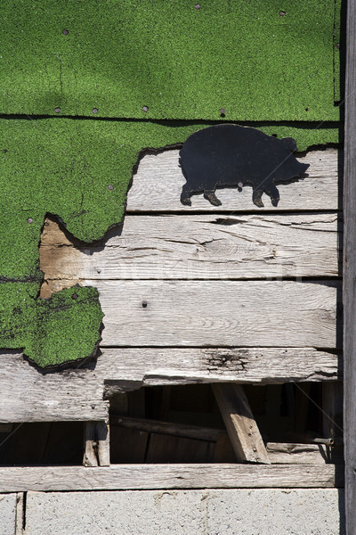 Side of wooden building.  Stock photo © iofoto