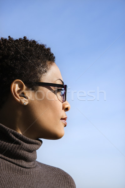Profile of Young African American Woman Stock photo © iofoto