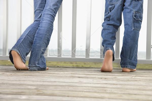 Erkek kız plaj kardeş Stok fotoğraf © iofoto