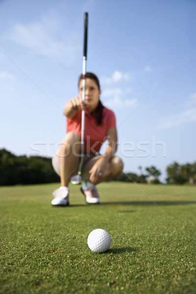 Female Golfer Concentrating Stock photo © iofoto