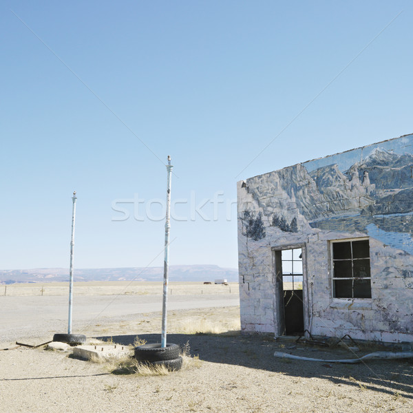 Building in desert landscape. Stock photo © iofoto