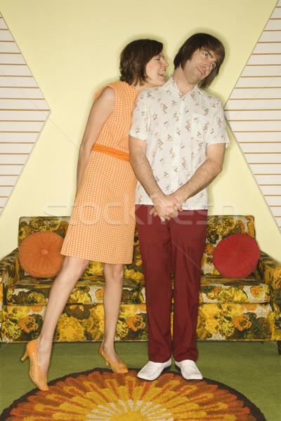 Couple flirting. Stock photo © iofoto