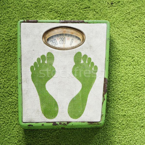 Vintage weight scale. Stock photo © iofoto