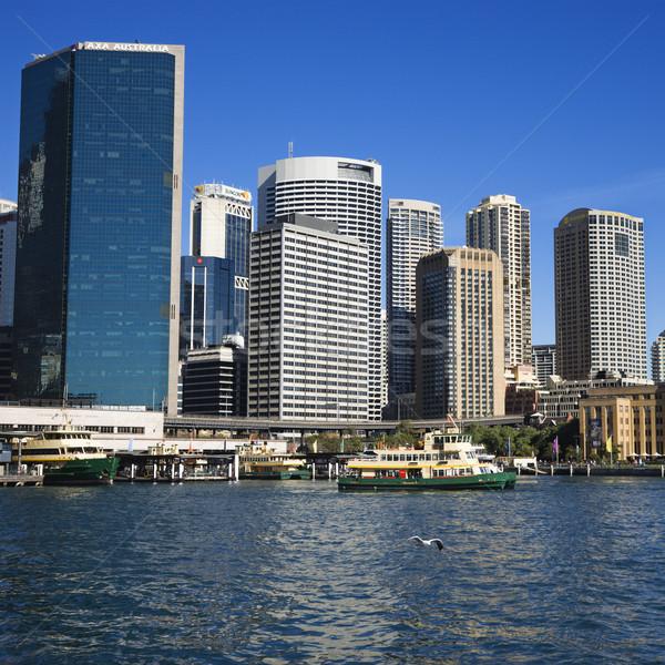 Sydney Australie centre-ville vue bateaux port Photo stock © iofoto